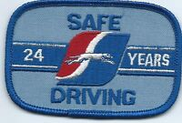 "Greyhound Bus ""24 years safe driving"" driver patch 2-1/2 X 3-3/4 inch"