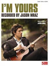 I'm Yours Sheet Music Piano Vocal Jason Mraz NEW 002501321