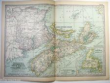 Original 1897 Map of New Brunswick, PEI & Newfoundland  by The Century Company