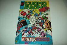 L'UOMO RAGNO-N. 204-EDITORIALE CORNO-IL KILLER INCREDIBILE-23 FEB. 1978-OT-RESO