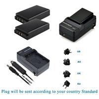 2 Battery 1054062 / KLIC-5001 +Charger for Kodak EasyShare P712 P880 P850 Z730