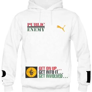 Public Enemy - Fight The Power Official Licensed Pullover Hoodie By Puma