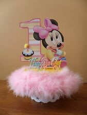 Baby Minnie Mouse Cake Topper 1st First One Birthday Party Centerpiece