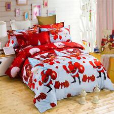 4pcs Bedding set 3D Polyester Bedding Set Chrismas King Pillow Cases Duvet Cover
