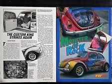 1974 Volkswagon VW Rock Beatle Bug  - 2 Page Original Article - Free Shipping