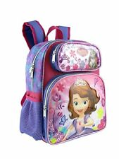 "Disney Sofia the First 12"" Canvas Pink & Purple Run School SmallBackpack"
