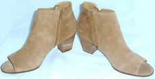 LUCKY BRAND Open Toe Oiled Suede Boots Ankle Booties Women's Size 13 M