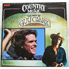 GUY CLARK - The best of -  LP VINYL 1983 MADE IN ITALY MINT COVER VG+ PROMO