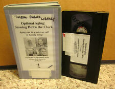 OPTIMAL AGING documentary Slowing Down Clock VHS holistic medicine Corsello Ctr.