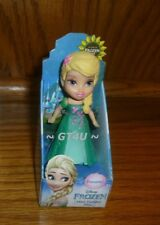 "Disney Princess Mini Toddler Frozen Fever Elsa 3"" Doll Cake Toppers Posable"