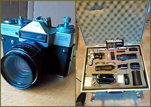 Zenit EM Olympic 80 35mm SLR Camera, Helios 44mm 2/58 Lens & Accessories & Case