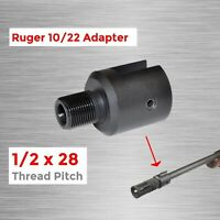 "1/2""x28 Barrel End Threaded Pitch Adapter 10/22 CNC Alloy Steel Muzzle Tool"