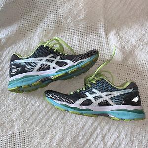 Asics Womens Gel Nimbus 18 Running Shoes Sneakers Gel-Nimbus Gray T650N 7.5