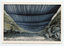 CHRISTO CARTE POSTALE D'ART SIGNÉE À LA MAIN HANDSIGNED ART POSTCARD COLORADO