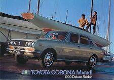 Toyota Corona Mark II 1900 Saloon 1969-70 original UK Sales Brochure