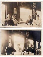 Two RPPCs Interior of a British Restaurant in Seattle, Washington~106994