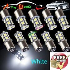 10 x White 1157 Bay15d Tail Brake Stop Backup 13-SMD 5050 LED Corner Light Bulbs