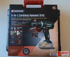 PARKSIDE 20V CORDLESS IMPACT HAMMER DRILL 3-IN-1 BARE UNIT