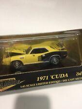 ERTL AMERICAN MUSCLE 1971 CUDA IN THE BOX 1/43 SCALE