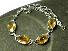 CITRINE  Sterling  Silver  925  Gemstone  Bracelet  -  Gift  Boxed!