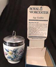 ROYAL WORCESTER EGG CODDLER vintage King Size WOODLAND Flowers Unused in Box