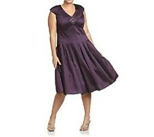 Jessica Howard Cap Sleeve Pleated A-Line Plus Size Dress Size 22W