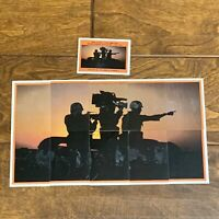 1991 Desert Storm Trading Cards lot of 11 countries flags 10pc puzzle
