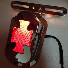 Chromed tombstone Red Brake Tail Light Signals For Harly Springer Big Twin V-rod