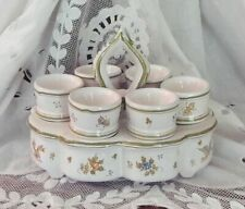 SERVICE A OEUFS COQUETIERS FAIENCE LALLIER MOUSTIERS PROVENCE FRANCE