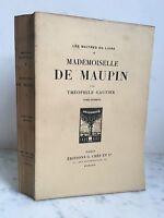 Théophile Gautier Mademoiselle Maupin Las Maestros de La Libro 1922