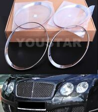 FAST EMS Set CHROME SPEED Head Light Trims for Bentley Continental 03-11 GT GTC