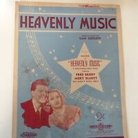 song sheet HEAVENLY MUSIC Fred Brady Mary Elliott 1943