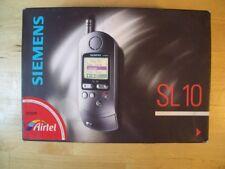 SIEMENS SL 10 TELEFONO MOVIL MOBILE CELLULAR SL10 VINTAGE BOXED CON CAJA GSM