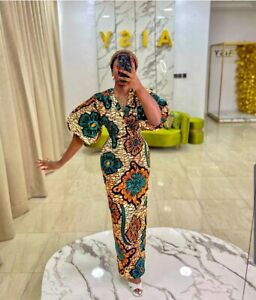 S-3XL  HANDMADE AFRICAN PRINT DRESS  DASHIKI KENTE ANKARA DRESS WEDDING