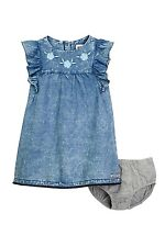 HUDSON JEANS Kids Dress & Bloomer Set (Baby Girls) Bleach Splash 24 MONTHS