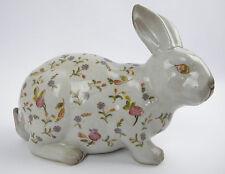 Hase Porzellan Osterhase Keramik Osterdeko Kaninchen Ostern Deko Rosendekor Rose
