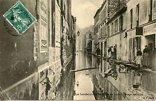 CARTE POSTALE / LES INONDATIONS DE PARIS 1910 PASSAGE LAUDRIEU
