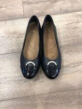 Clarks Woman Flat Shoes Uk5,5/eur39 Black Artisan
