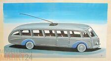 Öl-Bild Leinwand Stromlinienbus O-Bus Illustration eines WIKING-Modells 42x79