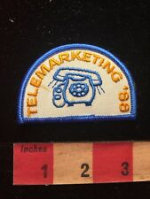 Vtg 1980s TELEMARKETING Telemarketer Patch - Phone Sales (seriously?!?) 78V8