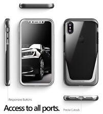 Apple iPhone X Case Poetic Lucent Metallic Coating Hybrid Bumper Cover Black