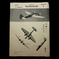 """WWII 1943 British RAF Medium Bomber """"Bristol Blenheim"""" W.E.F.T.U.P. ID Poster"""