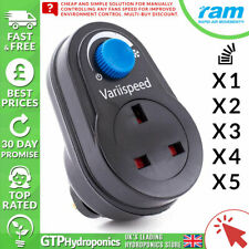 Variispeed Fan Controller Plug In 300w - RAM  - Fan Speed Dimmer - Multi-Buy