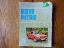 Austin Allegro Owners Handbook / Maintenance Manual, Hayns 1973 on.