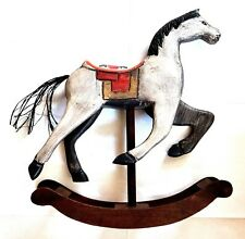 Cavallo a dondolo in legno spielzeugschaukelpferd di H 38 cm