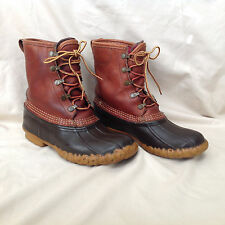 Vintage LL Bean leather duck boots - Gortex Thinsulate lined  - women's size 8