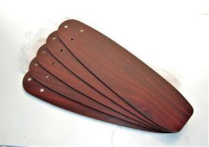 """HUNTER CEILING FAN NEW PARTS - CHERRY/MAPLE 22 1/2"""" BLADES  ARCHIVE HOLE PATTERN"""