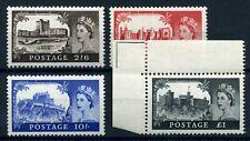 GB 1955 waterlow castles set fine MNH