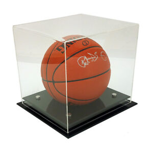 NEW! DELUXE 5mm THICK ACRYLIC BASKETBALL/SOCCER BALL DISPLAY CASE - UV PROTECTED