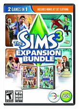 The Sims 3 Expansion Bundle: World Adventures & Generations [PC-DVD MAC] NEW